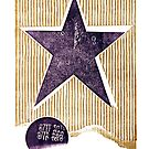 the first star purple rustic star with golden stripes and binary by veerapfaffli