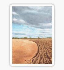 Ploughed Field, Shropshire - watercolour Sticker