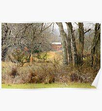 Old Barn Landscape Poster