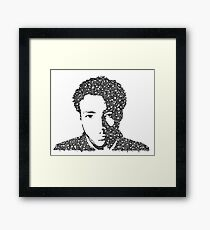 Childish Gambino Bubble Portrait Framed Print