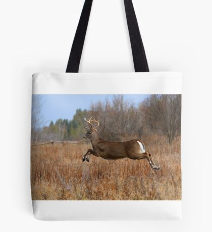 Through the Air - White-tailed deer Buck Tote Bag