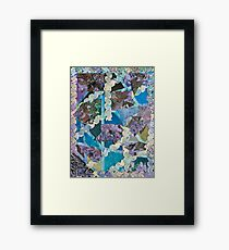 Abstract Origami Puzzle Framed Print