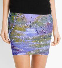 Light Vibrant  Landscape Mini Skirt