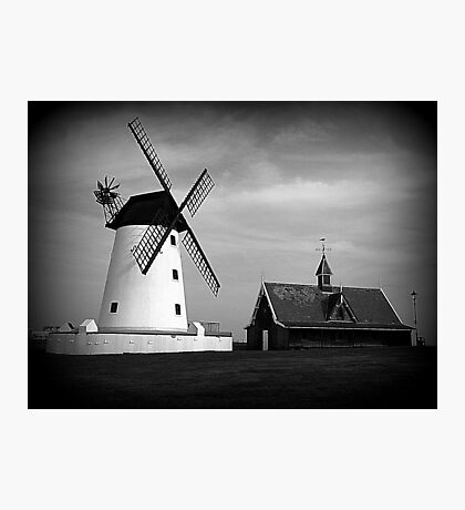 Lytham Windmill and Lifeboat station Photographic Print