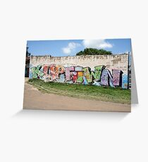 Graffiti on the wall. Greeting Card