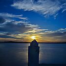 Swansea Sunset, Blue by bazcelt
