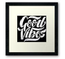 Good Vibes - Feel Good T-Shirt Design Framed Print