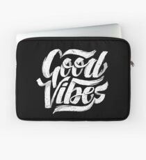 Good Vibes - Feel Good T-Shirt Design Laptop Sleeve