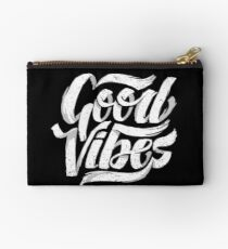 Good Vibes - Feel Good T-Shirt Design Zipper Pouch
