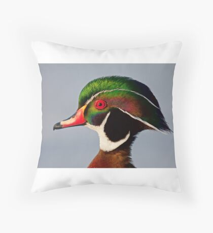 Colours of a Wood Duck Throw Pillow