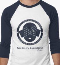 Adult Hide & Seek League Men's Baseball ¾ T-Shirt