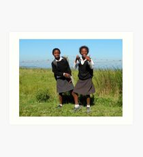 Xhosa School Girls  Art Print