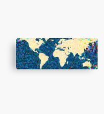 maps pointilism World Map 2 Canvas Print