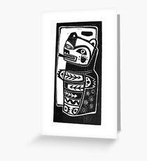 HON the Kachina Bear linocut Greeting Card