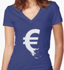 Universal Unbranding - The Greek Collapse Women's Fitted V-Neck T-Shirt