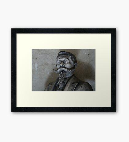 Moustache and Beard Framed Print