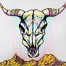 Tribal Skull by Molly Lombard