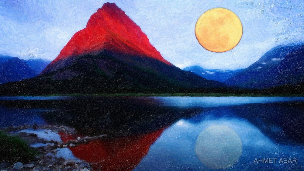 red mountain and the moon by MotionAge Media
