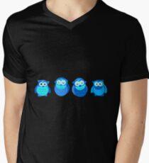 Four Blue Owls Men's V-Neck T-Shirt