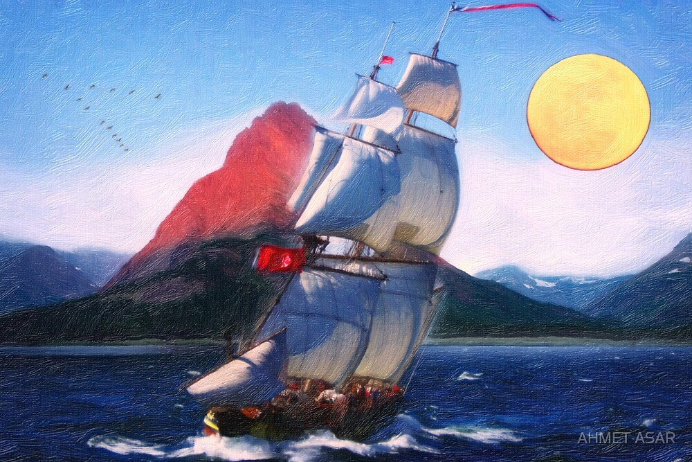 sailing towards high peaks oil by MotionAge Media