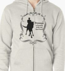 Dressage Is Dancing Horse Silhouette  Zipped Hoodie