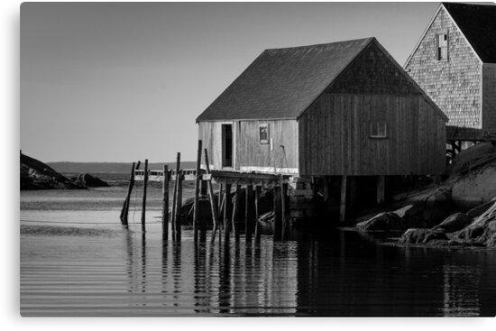 Fishing Village at Peggys Cove Nova Scotia by Randy Hill