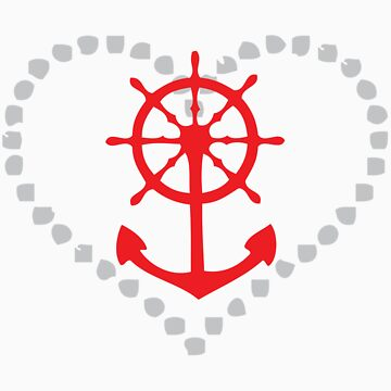 Anchored Heart by tarynattheseams