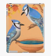 Blue Jays In Fall iPad Case/Skin