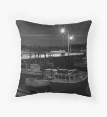Delhaven Wharf, Nova Scotia Canada Throw Pillow