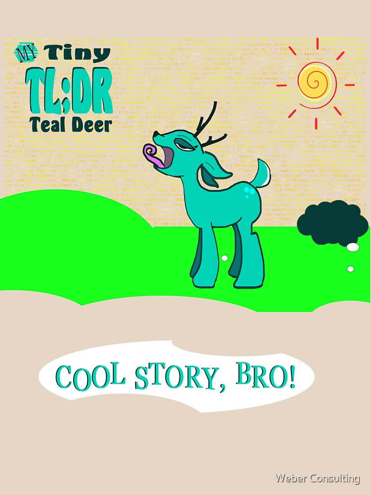 My Tiny Teal Deer - Better Version by HalfNote5