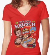 Captain Mal's Krunch Cereal Women's Fitted V-Neck T-Shirt
