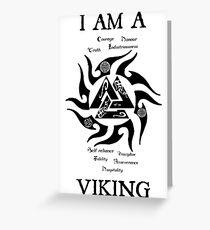 I am a Viking (valknut) Greeting Card