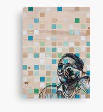 Checker Face Canvas Print