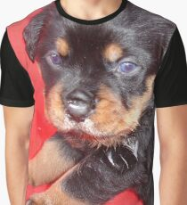 Cute Rottweiler Puppy With Food On Muzzle Graphic T-Shirt