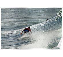 Pro surfer at Snapper rocks Poster