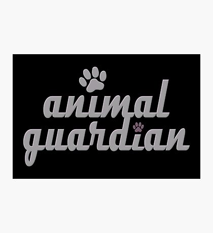 animal guardian - animal cruelty, vegan, activist, abuse Photographic Print