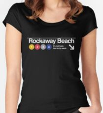 Rockaway Beach - Color Women's Fitted Scoop T-Shirt