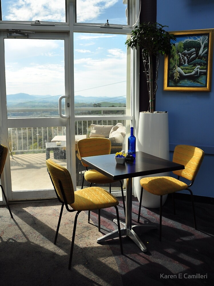 Cafe Mt Stromlo by Karen E Camilleri