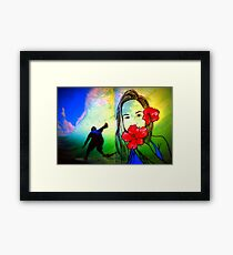 Hawaiin Girl Framed Print
