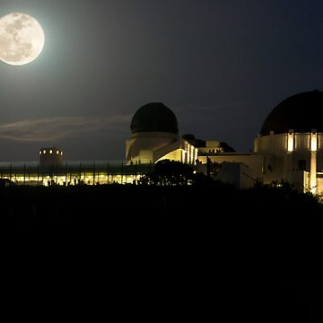 Moon Over Griffith Observatory by MCHerdering