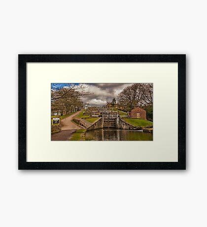 Bingley Five Rise Locks Framed Print