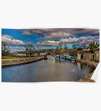 Leeds and Liverpool Canal at Bingley Poster
