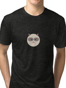 Minimal Grumpy Cat Tri-blend T-Shirt