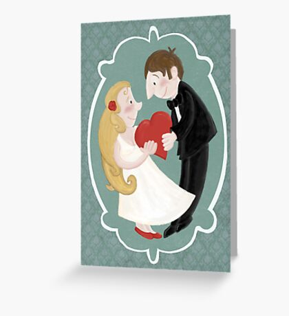 Happily in love Greeting Card