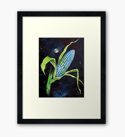 Planet Corn Framed Print