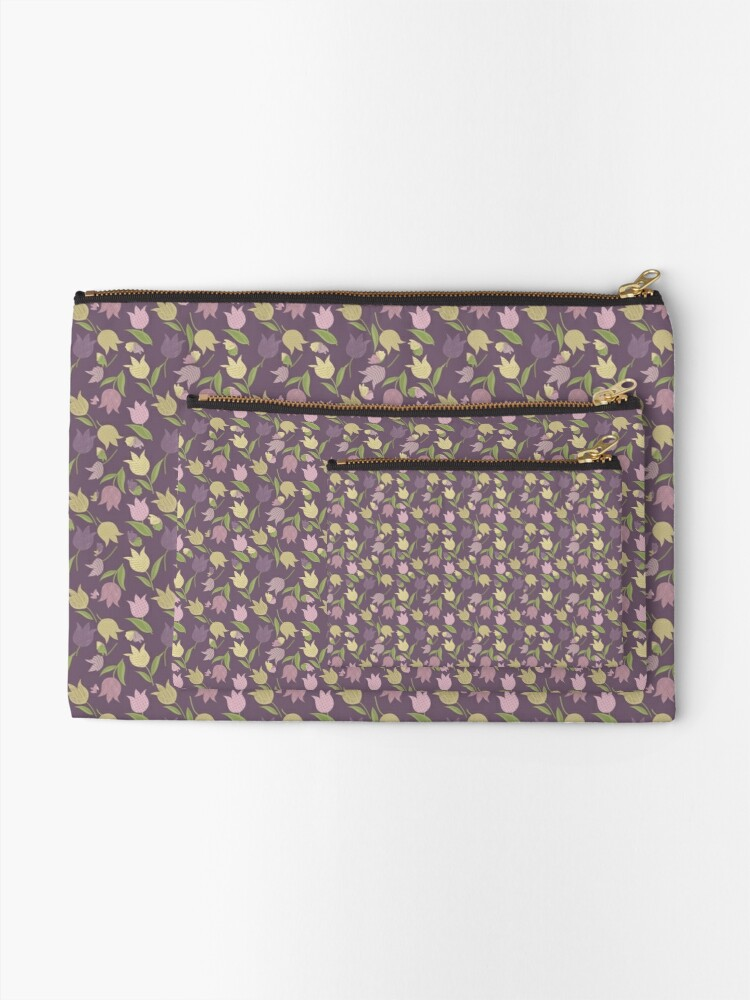 Alternate view of Tulips Pattern  Zipper Pouch