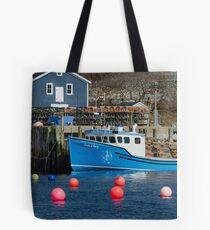 Nova Scotia Fishing Village Tote Bag