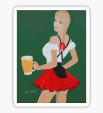 Beer wench t shirt Sticker