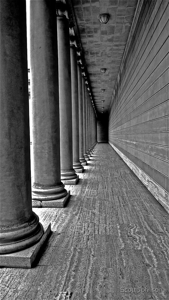Corridor of Columns by Scott Johnson