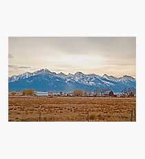 The Mission Mountains from Charlo Photographic Print